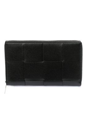 Мужской кожаное портмоне BOTTEGA VENETA черного цвета, арт. 649607/VBWD2 | Фото 1