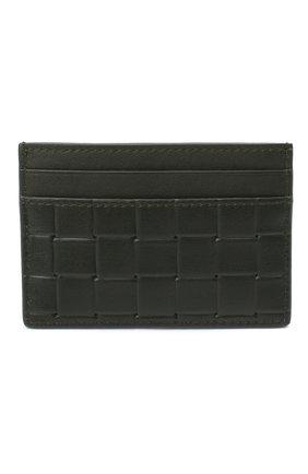 Мужской кожаный футляр для кредитных карт BOTTEGA VENETA хаки цвета, арт. 635064/V0AQ1 | Фото 1