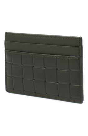 Мужской кожаный футляр для кредитных карт BOTTEGA VENETA хаки цвета, арт. 635064/V0AQ1 | Фото 2