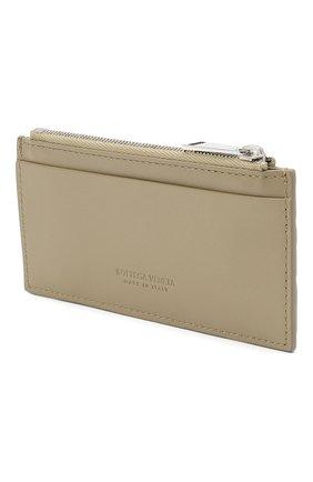 Мужской кожаный футляр для кредитных карт BOTTEGA VENETA бежевого цвета, арт. 591379/VCPQ3 | Фото 2
