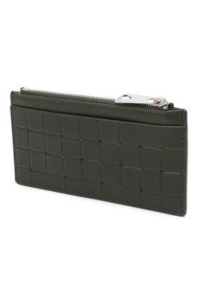 Мужской кожаный футляр для кредитных карт BOTTEGA VENETA хаки цвета, арт. 591379/V0AQ1 | Фото 2