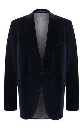 Мужской хлопковый пиджак EDUARD DRESSLER синего цвета, арт. 6431/26103   Фото 1