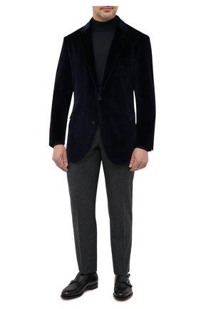 Мужской хлопковый пиджак EDUARD DRESSLER синего цвета, арт. 6431/26103   Фото 2