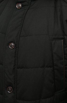 Мужская пуховик EDUARD DRESSLER темно-зеленого цвета, арт. 800152/76437 | Фото 5