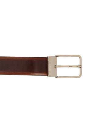 Мужской кожаный ремень SANTONI коричневого цвета, арт. CM35NS003B90HNGWM61   Фото 3