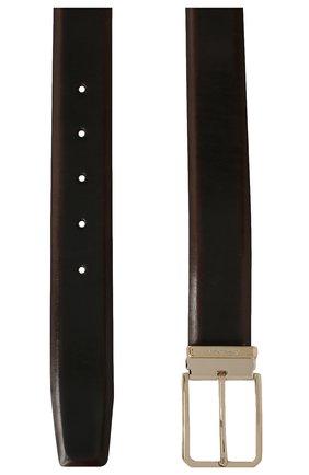 Мужской кожаный ремень SANTONI темно-коричневого цвета, арт. CM35NS003B90HNGWT50 | Фото 2