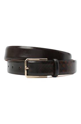 Мужской кожаный ремень SANTONI коричневого цвета, арт. CM35NS004B91HPHRT40 | Фото 1