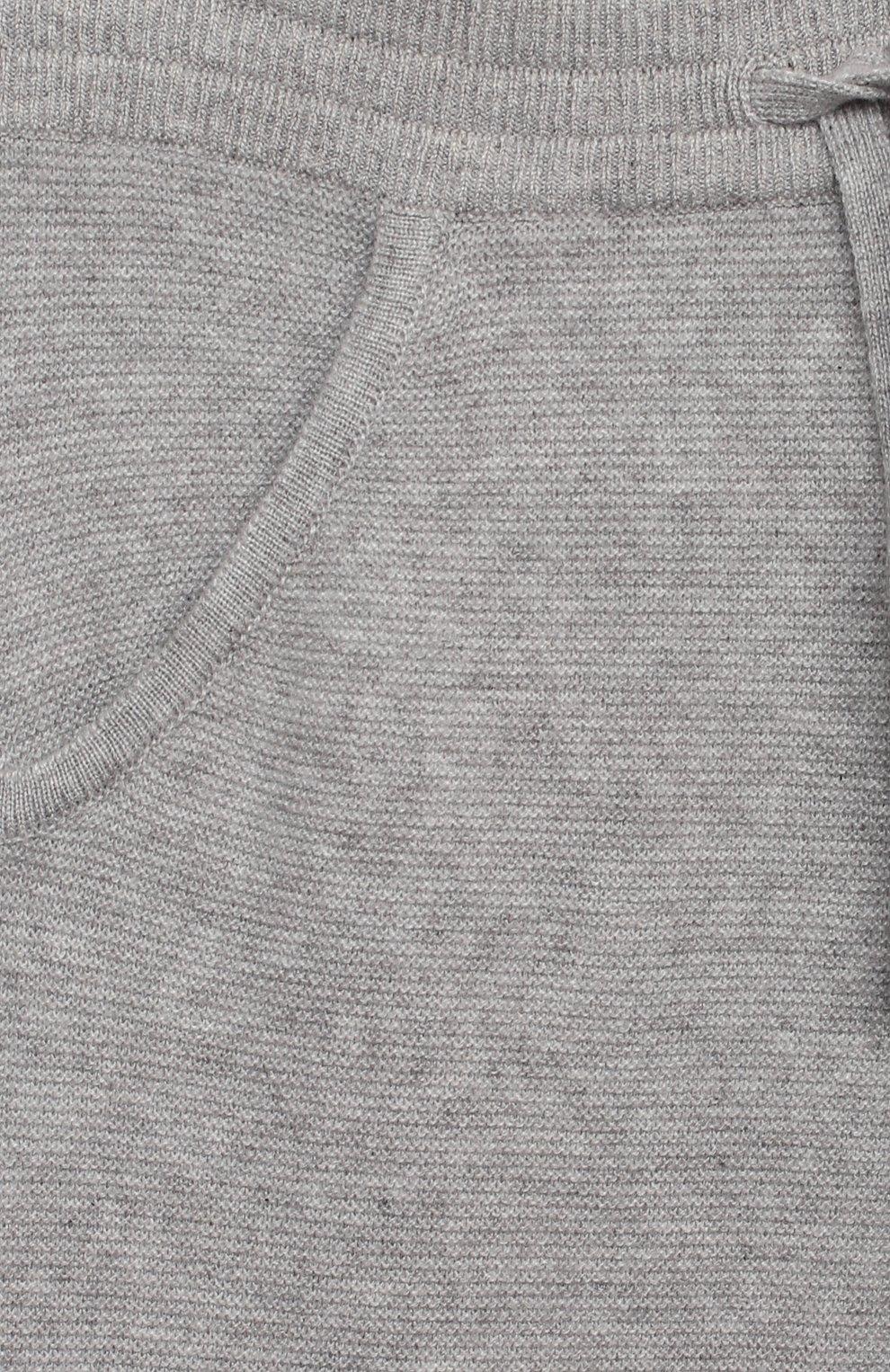 Детские кашемировые брюки LORO PIANA серого цвета, арт. FAL3725   Фото 3