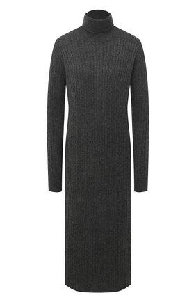 Женское платье из шерсти и кашемира ADDICTED темно-серого цвета, арт. MK723 | Фото 1
