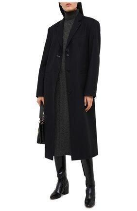 Женское платье из шерсти и кашемира ADDICTED темно-серого цвета, арт. MK723 | Фото 2