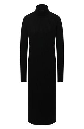 Женское платье из шерсти и кашемира ADDICTED черного цвета, арт. MK723 | Фото 1
