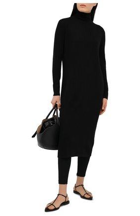 Женское платье из шерсти и кашемира ADDICTED черного цвета, арт. MK723 | Фото 2