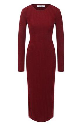 Женское платье из шерсти и кашемира ADDICTED бордового цвета, арт. MK715 | Фото 1