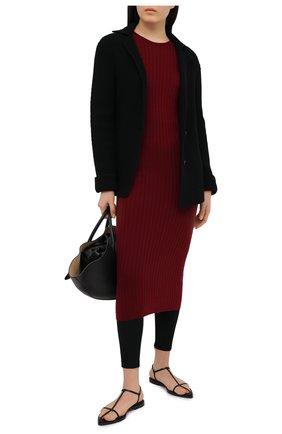 Женское платье из шерсти и кашемира ADDICTED бордового цвета, арт. MK715 | Фото 2