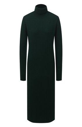 Женское платье из шерсти и кашемира ADDICTED зеленого цвета, арт. MK723 | Фото 1