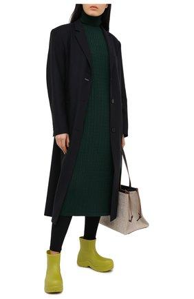 Женское платье из шерсти и кашемира ADDICTED зеленого цвета, арт. MK723 | Фото 2