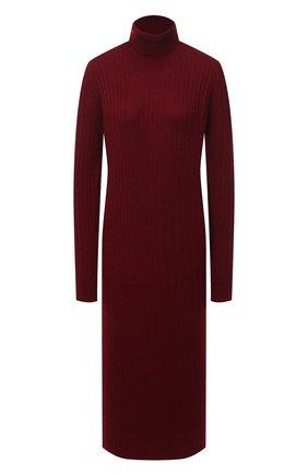 Женское платье из шерсти и кашемира ADDICTED бордового цвета, арт. MK723 | Фото 1