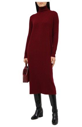 Женское платье из шерсти и кашемира ADDICTED бордового цвета, арт. MK723 | Фото 2