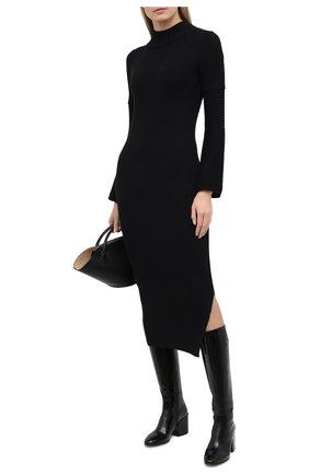 Женское платье BOSS черного цвета, арт. 50445528 | Фото 2