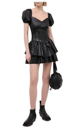 Платье из экокожи | Фото №2