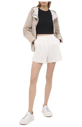 Женские хлопковые шорты BRUNELLO CUCINELLI белого цвета, арт. MH827SF389 | Фото 2