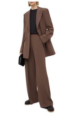 Женский топ из кашемира и шелка BRUNELLO CUCINELLI темно-серого цвета, арт. M41810000   Фото 2