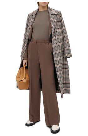 Женский пуловер из кашемира и шелка BRUNELLO CUCINELLI хаки цвета, арт. M13800000 | Фото 2