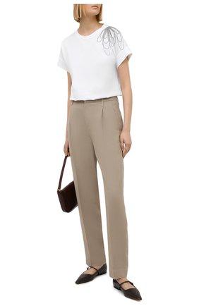 Женская хлопковая футболка BRUNELLO CUCINELLI белого цвета, арт. M0A45BT400 | Фото 2