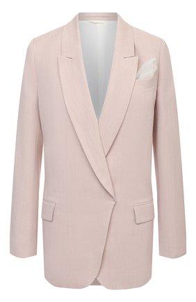 Женский жакет из вискозы и льна BRUNELLO CUCINELLI светло-розового цвета, арт. MH1262100 | Фото 1
