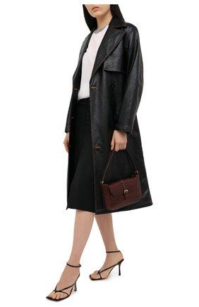 Женская юбка из вискозы и льна BRUNELLO CUCINELLI черного цвета, арт. MH126G3076 | Фото 2