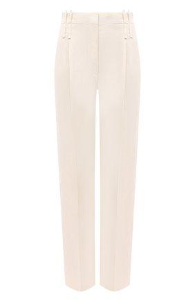 Женские брюки из вискозы и льна BRUNELLO CUCINELLI кремвого цвета, арт. MH126P7575 | Фото 1