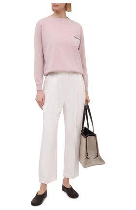 Женские льняные брюки BRUNELLO CUCINELLI белого цвета, арт. MH506P7647 | Фото 2