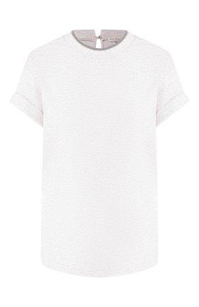 Женская хлопковая футболка BRUNELLO CUCINELLI кремвого цвета, арт. M0T18BD200 | Фото 1