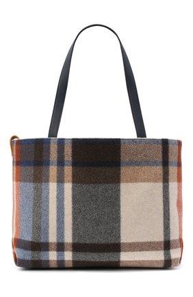 Женский сумка-шопер LORO PIANA синего цвета, арт. FAL4553 | Фото 1