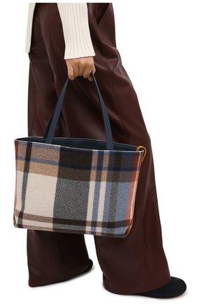 Женский сумка-шопер LORO PIANA синего цвета, арт. FAL4553 | Фото 2