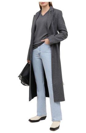 Женский шерстяной пуловер STELLA MCCARTNEY серого цвета, арт. 602190/S2221 | Фото 2