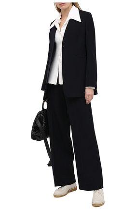 Женская кожаные дерби honore THE ROW белого цвета, арт. F1172-L23   Фото 2