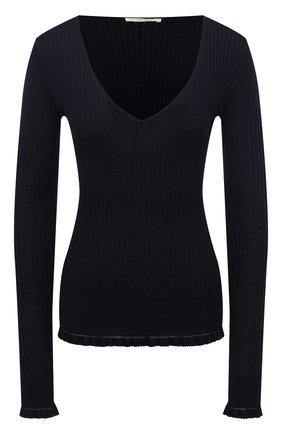 Женский пуловер из кашемира и шелка THE ROW темно-синего цвета, арт. 5347F457 | Фото 1