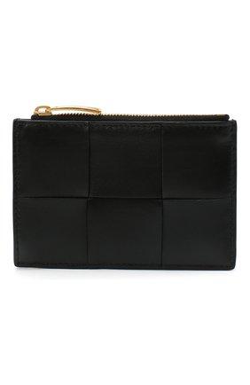 Женский кожаный футляр для кредитных карт BOTTEGA VENETA черного цвета, арт. 651393/VCQC4   Фото 1