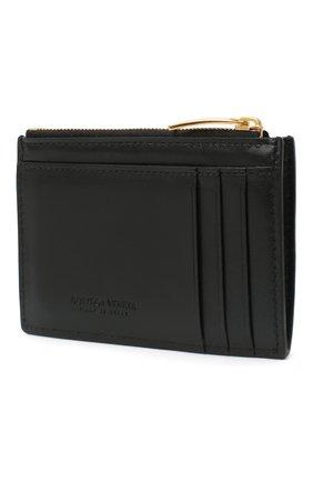 Женский кожаный футляр для кредитных карт BOTTEGA VENETA черного цвета, арт. 651393/VCQC4   Фото 2