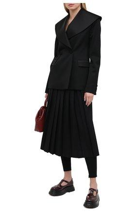 Женская кожаные туфли BURBERRY бордового цвета, арт. 8031246   Фото 2