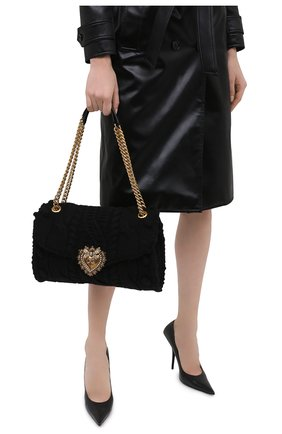 Женская сумка devotion DOLCE & GABBANA черного цвета, арт. BB6949/A0107 | Фото 2