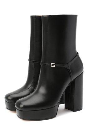 Женские кожаные ботильоны tiarah GUCCI черного цвета, арт. 627992/CQX10 | Фото 1