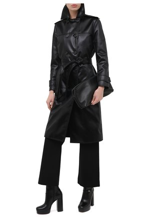 Женские кожаные ботильоны tiarah GUCCI черного цвета, арт. 627992/CQX10   Фото 2