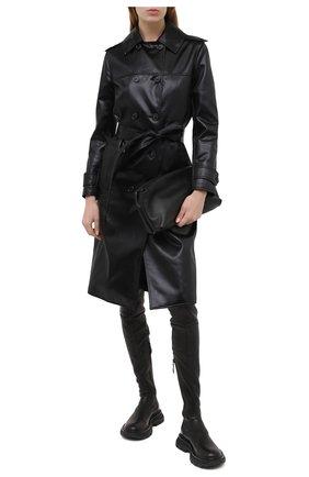 Женские кожаные ботфорты ALEXANDER MCQUEEN черного цвета, арт. 641850/WHSS2   Фото 2