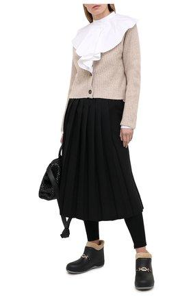 Женские ботинки GUCCI черного цвета, арт. 627890/JCC00 | Фото 2