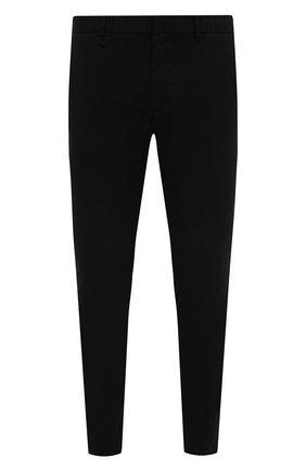 Мужской хлопковые брюки HUGO черного цвета, арт. 50437969 | Фото 1