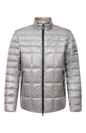 Мужская пуховая куртка BOGNER светло-серого цвета, арт. 38216550 | Фото 1 (Кросс-КТ: Куртка; Стили: Кэжуэл; Мужское Кросс-КТ: пуховик-короткий; Материал утеплителя: Пух и перо; Рукава: Длинные; Материал внешний: Синтетический материал; Длина (верхняя одежда): Короткие)