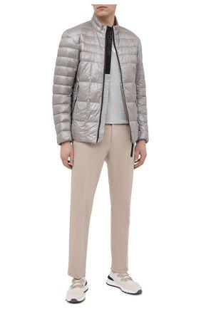 Мужская пуховая куртка BOGNER светло-серого цвета, арт. 38216550 | Фото 2 (Кросс-КТ: Куртка; Стили: Кэжуэл; Мужское Кросс-КТ: пуховик-короткий; Материал утеплителя: Пух и перо; Рукава: Длинные; Материал внешний: Синтетический материал; Длина (верхняя одежда): Короткие)