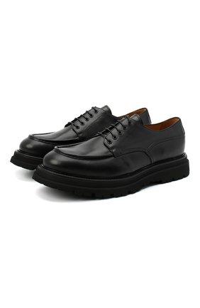 Мужские кожаные дерби CAMERLENGO черного цвета, арт. Z15646T0SNE732 | Фото 1